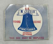 Vintage 1976 Pennsylvania Fishing License