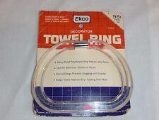 NEW NOS Vtg Ekco Chrome Clear Lucite Acrylic Stirrup Towel Ring Original Pkg