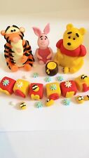 Edible In The Style Of Winnie The Pooh Set Birthday Cake Topper Icing Decoration