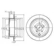 Delphi Rear 2x Brake Discs BG4158 - BRAND NEW - GENUINE - 5 YEAR WARRANTY