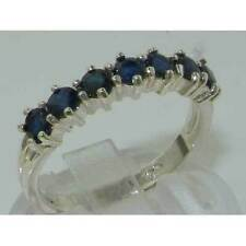 Sapphire Sterling Silver Natural Fine Rings