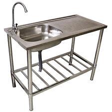 Waschtisch Waschbecken Edelstahl für Außen- und Gartenbereich