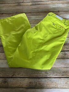 Oakley Lime Green Ski Pants Size Large
