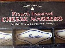 Restoration Hardware French Inspired Cheese Markers Maitre Fromager Ceramic