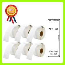 6 Rolls 99010 Labels Compatible for Dymo/Seiko 28 x 89mm 130 labels per roll