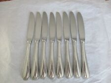 "8 Towle BEADED ANTIQUE 18/8 Stainless Dinner Knives, Germany, 9"", GUC"