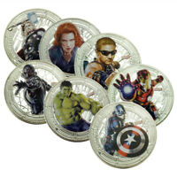 New The Avengers Coins Marvel Hero Coins 7pcs/Set Best Collectibles Gift