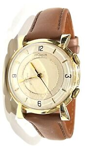 LeCoultre Memovox Men's Alarm Watch 10K Gold Filled 17 jewels 489/1 pre - 1951