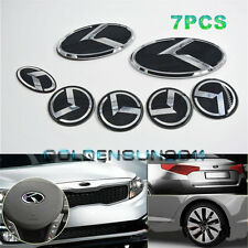 7pcs 3D K Speed Emblem Badge Set (Grille Trunk 4 Rims Steering Wheel) For Kia K5