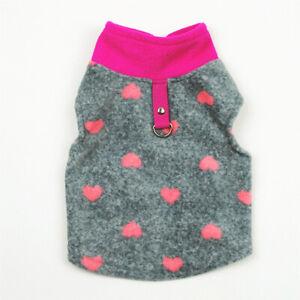 Warm Dog Coat Fleece Winter Pet Clothes Puppy Chihuahua Button Buckle Vest Shirt