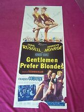 GENTLEMEN PREFER BLONDES,1953 INSERT MOVIE POSTER - MARILYM MONROE- JANE RUSSELL