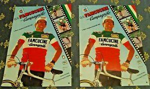 2 pezzi Ciclismo cartoline F. MOSER G.S. FAMCUCINE - CAMPAGNOLO 1981/1982