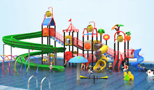 150x100x40 Commercial Water Park Playground Splash Pad Kid Pool Slide We Finance