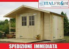 Casa di Legno d'Abete Box Baita Casetta da Giardino 18mm mq4,89 ITALFROM700