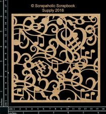 Scrapaholics Chipboard - Music Panel