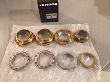 "OLD SCHOOL BMX TIOGA BEARTRAP 2 HEADSET GOLD 1"" threaded NEW tange gt"