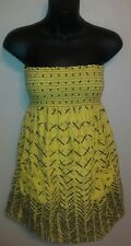 Final Step Yellow Tube Dress Cover Up Size Medium