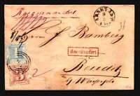Thurn & Taxis SC# 10 & 12 on 1861 Registered Cover - Z17207