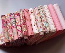12PCS 23cm*24cm pink cotton patchwork fabric DIY crafts quilt doll cloth tecido