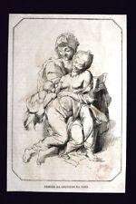 Figure disegnate da Leonardo da Vinci  Incisione del 1868