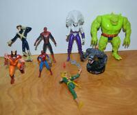 Marvel Action Figure Lot Wolverine VENOM SPIDER-MAN Toybiz Hasbro