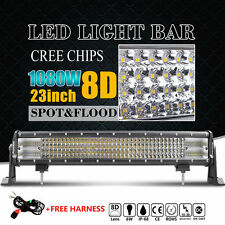 23INCH 1080W QUAD ROW CREE LED DRIVING LIGHT BAR COMBO Offroad 4X4WD TRUCK 22''