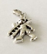 LOVELY PAINTER DECORATOR CLIP ON CHARM  FOR BRACELETS - SILVER ALLOY - NEW