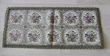 ++  Gobelin Brokat Läufer - Blumen - Untersetzer 63 x 26,5 cm Deckchen ++