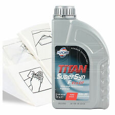 Engine Oil Top Up 1 LITRE Fuchs Supersyn F Eco-DT 5w-30 1L +Gloves,Wipes,Funnel