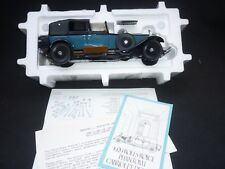 A Franklin mint scale model of a 1929 ROLLS ROYCE phantom 2 cabriolet de ville
