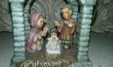 Nativity Goebel Bisque Porcelain Ornament Bh 1084 2002 Mint