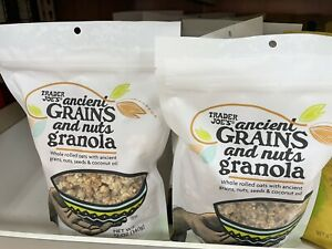 2 PACKS Traders Joe's Nuts Granola and Ancient Grains12oz each