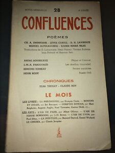 POÉMES De SWINBURNE, LEWIS CAROLL, D.H.LAWRENCE, RAINER MARIA RILKE.