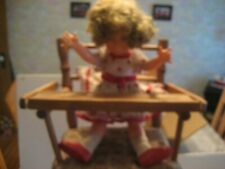 Good Condition Vintage Shirley Temple Doll With High Chair