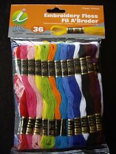 Iris Embroidery Cross Stitch 6 Strand Cotton Thread Floss 36 Bright Skeins