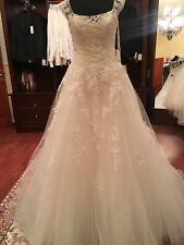 Pronovias Bia couture lace wedding dress gown US10 EU 38-40 Ret. $2420 NWT