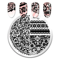 BORN PRETTY Nail Stamping Plates  Lace Image Stamp Stencil Templates DIY