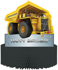 Construction Zone Trucks Party Supplies Honeycomb Birthday Table Centrepiece