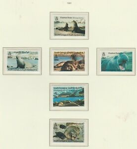 S36262 South Georgia 1991 MNH Sea Elephant 6v