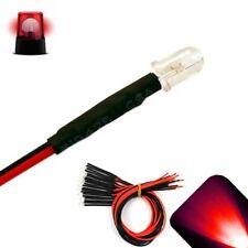 10 X Led Pre Wired 12v 5mm Red Flashing Blinking Strobe Leds 12 Volt Rc 6v 9v