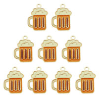 15PCS Jewelry DIY Accessories 19x14mm Enamel Color Bottle of Beer Pendant Charms