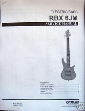 yamaha rbx 370 yamaha rbx 6jm electric bass guitar service manual and parts list booklet