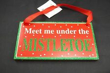 MEET ME UNDER THE MISTLETOE CHRISTMAS SIGN LOVE WALL DECOR #410