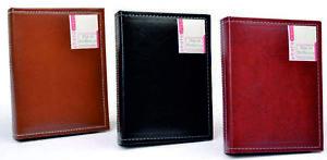 Leatherette Portrait Style Mini Pocket Photo Album Three Colors to Choose