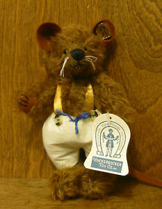 """Knickerbocker #118148 RATHBONE, 7"""" Jointed Mohair RAT, NEW/Tag From Retail Store"""