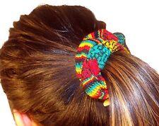 #604 Hair Tie Scrunchies 6 Pack Set Cotton Artisan Handmade Peru Assortment Mix