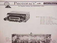 1974 CHEVROLET CHEVELLE EL CAMINO BUICK FORD RANCHERO AM-FM RADIO SERVICE MANUAL
