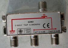 Abzweiger 2-fach 2-WAY TAP 5-860 MHz Modell 3282 Sternverteiler F-Abzweiger