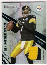 BEN ROETHLISBERGER 2010 R&S 2 COLOR NAME PLATE PATCH JERSEY PRIME SP /10
