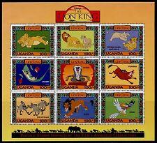 Uganda 1266-71 MNH Disney, Lion King, Animals